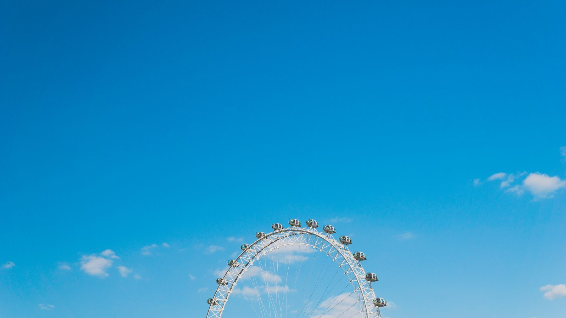 image of a bright blue sky in london